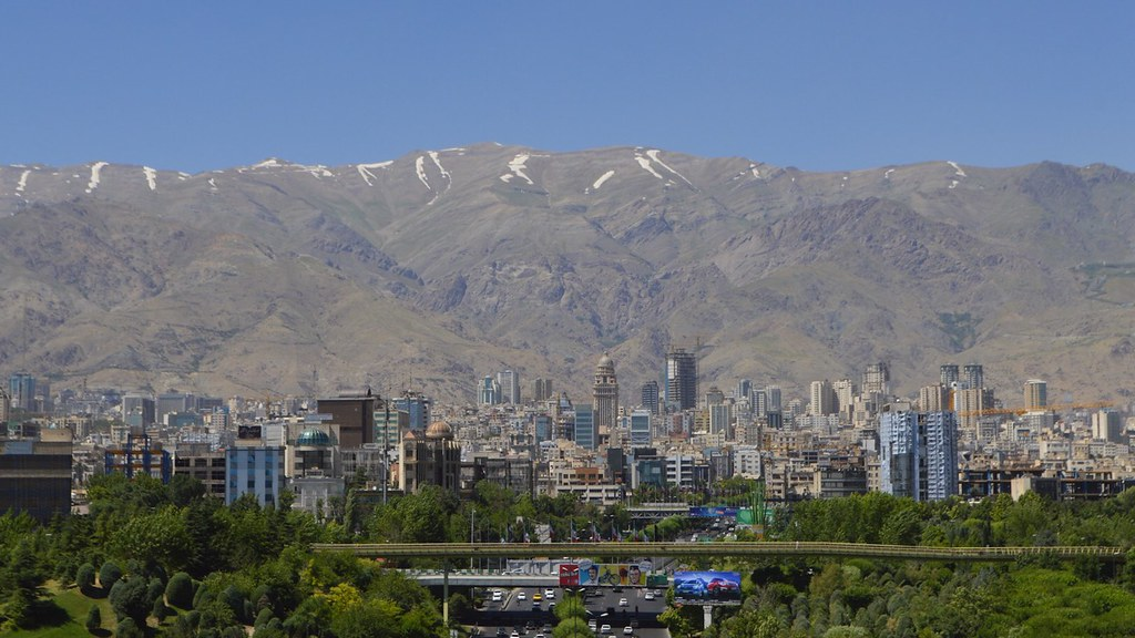 North of Tehran from the nature bridge