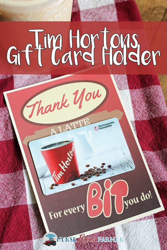Tim Hortons Free Printable Gift Card Holder. The perfect little card to say thank you with a Tim Hortons gift card!