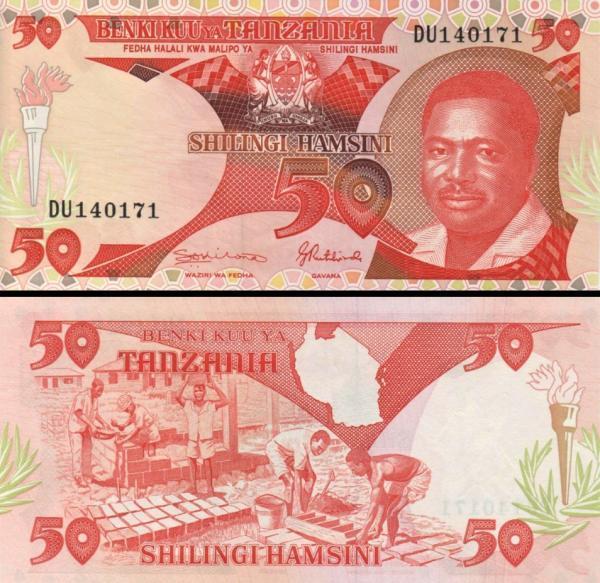 50 Šilingov Tanzánia 1992, P19