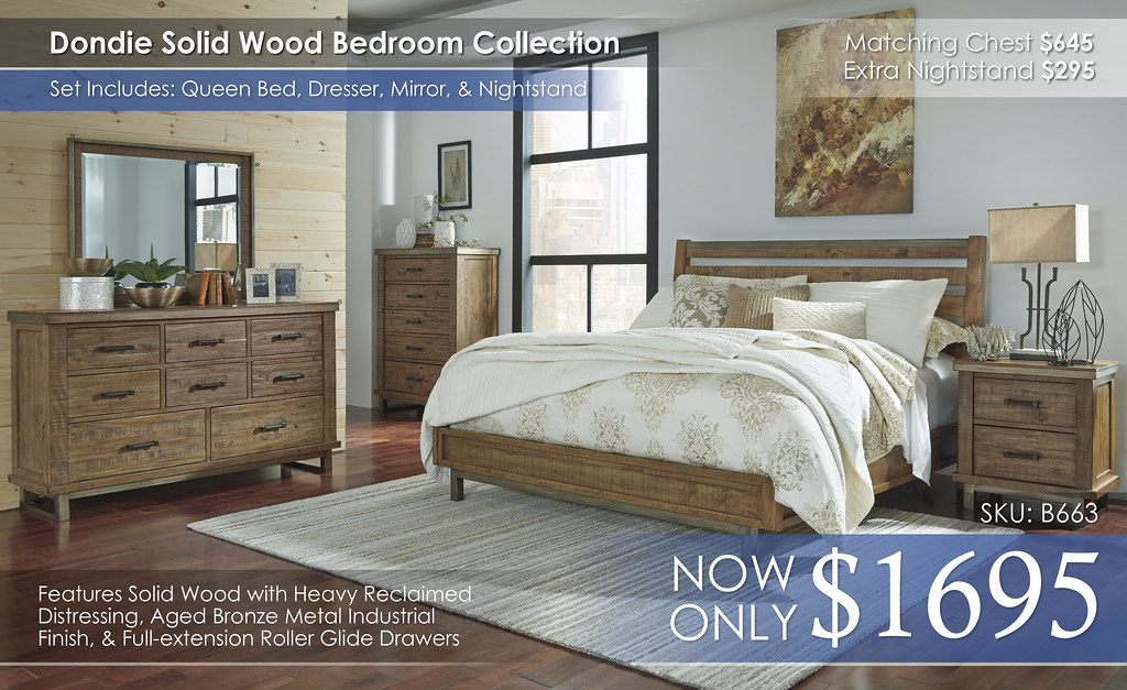 Dondie Bedroom Collection B663-31-36-46-58-56-92-Q737