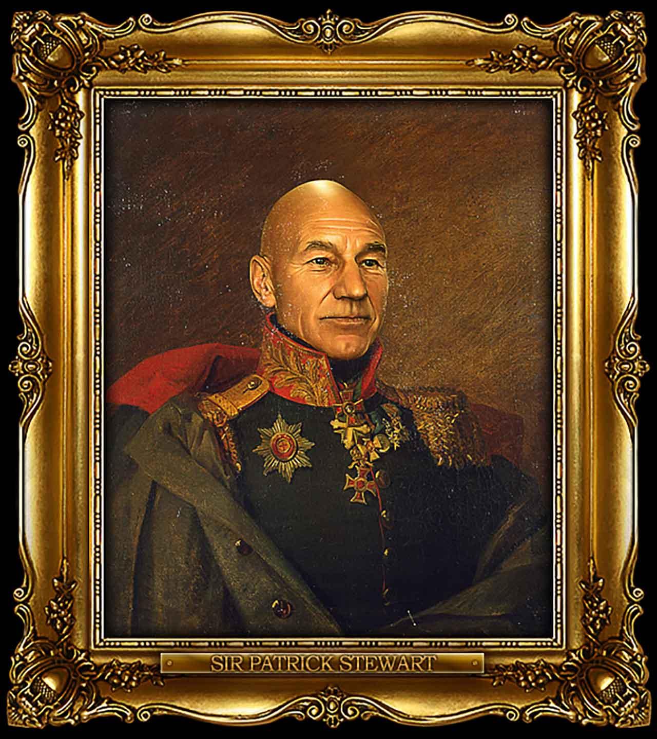 Artist Turns Famous Actors Into Russian Generals - Sir Patrick Stewart