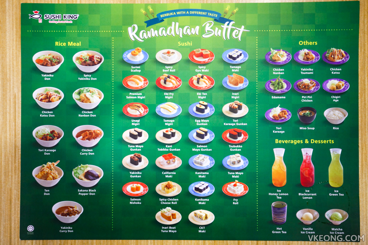 Sushi King Ramadhan Buffet Menu