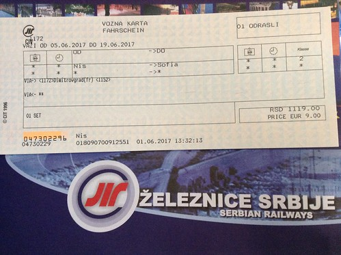 Nis - Sofia Train Ticket