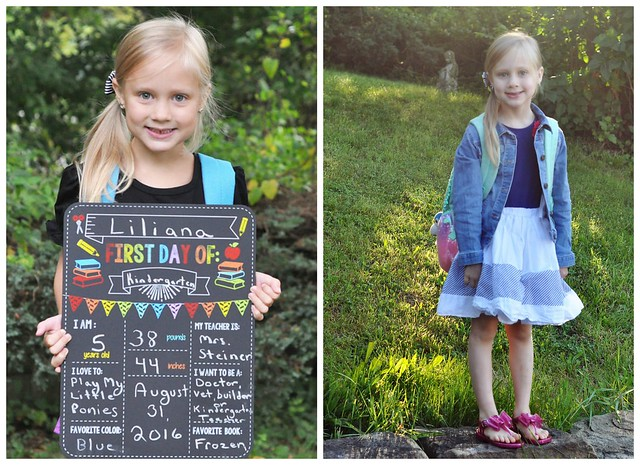First Day & Last Day of Kindergarten
