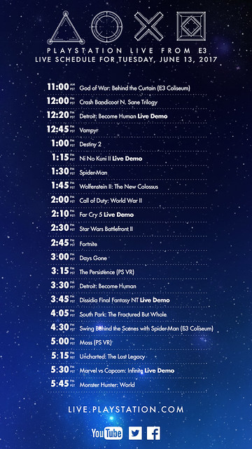 PlayStation Live From E3: Tuesday Schedule