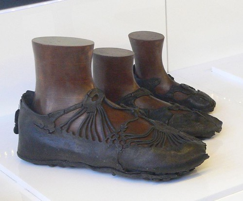 Ancient shoes. From Exploring the History of the Antonine Wall at Glasgow Museum