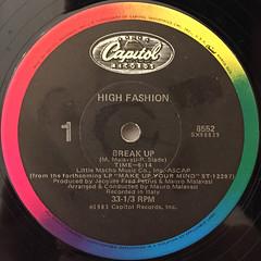 HIGH FASHION:BREAK UP(LABEL SIDE-A)