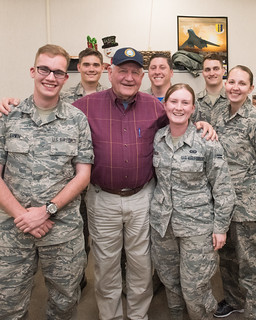 Secretary Perdue visiting members of Ellsworth AFB, May 19, 2017. USDA photo by Lance Cheung