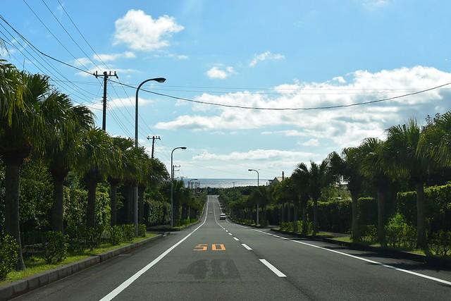 八丈島の道路