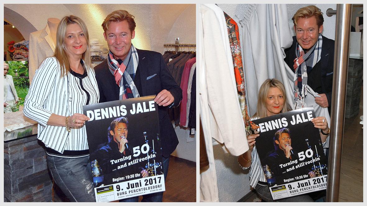 Dennis Jale im Outfit von Boutique Gina!