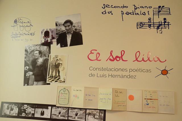 Exposición El sol lila. Constelaciones poéticas de Luis Hernández