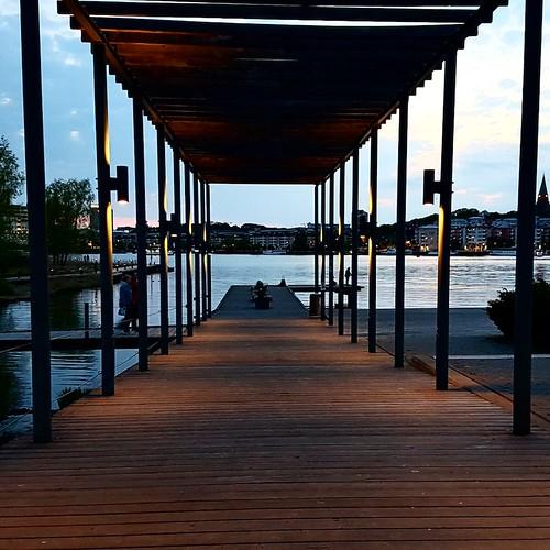 Stoccolma: imbrunire sull'acqua