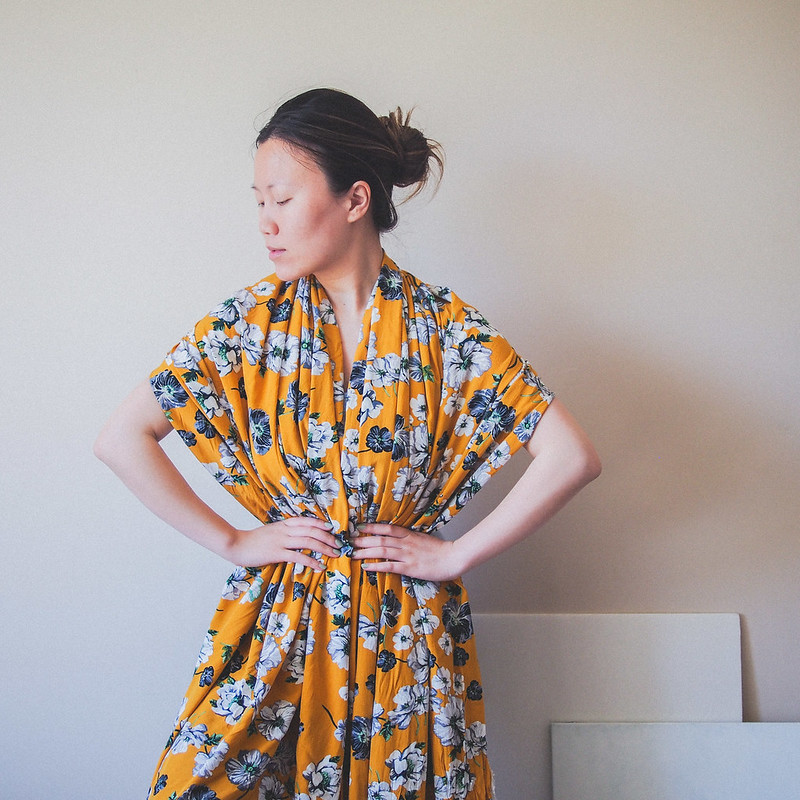 Vintage inspired yellow fabric