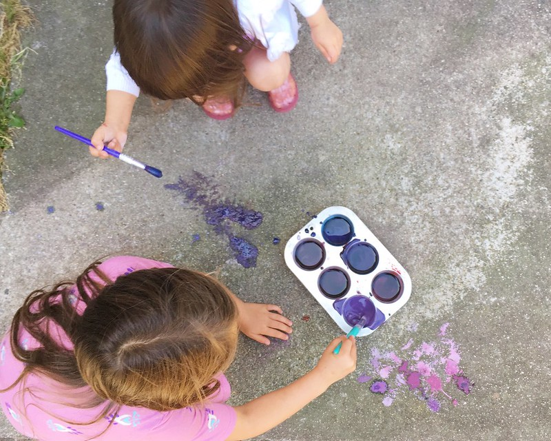 Chalk Painting // Purple {A Year of Color #6}