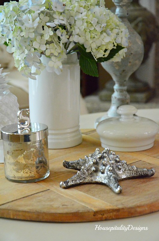 Hydrangeas-Ironstone-starfish-Housepitality Designs