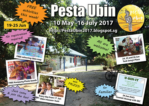 Pesta Ubin 2017 poster: this week 19 - 25 Jun