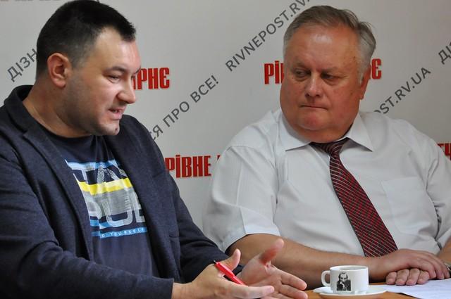 Дискусія в РВ: Хомко і Сидорчук про сміттєву проблему Рівного