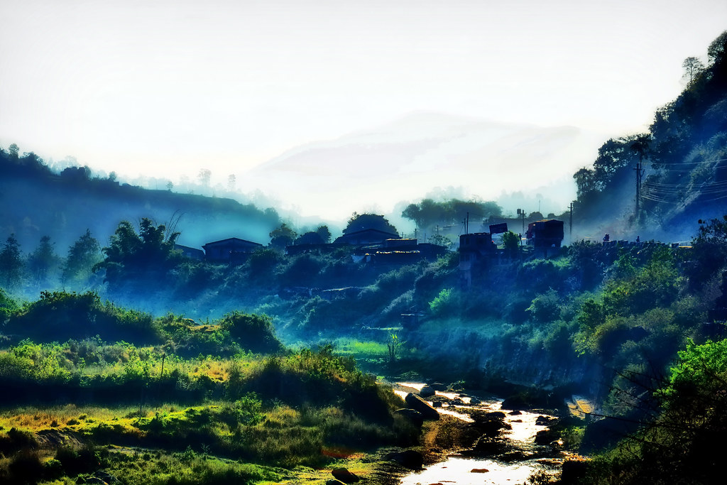 nepal - kathmandu valley - landscape