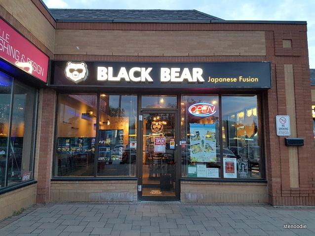 Black Bear Japanese Fusion storefront