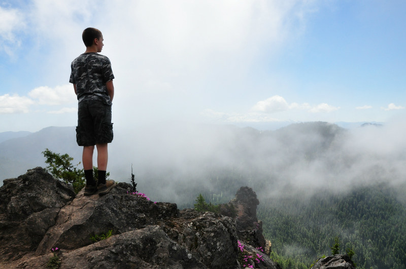 Iron Mountain Hike Summit Clouds @ Mt. Hope Chronicles