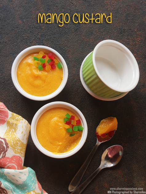 Mango custard recipe