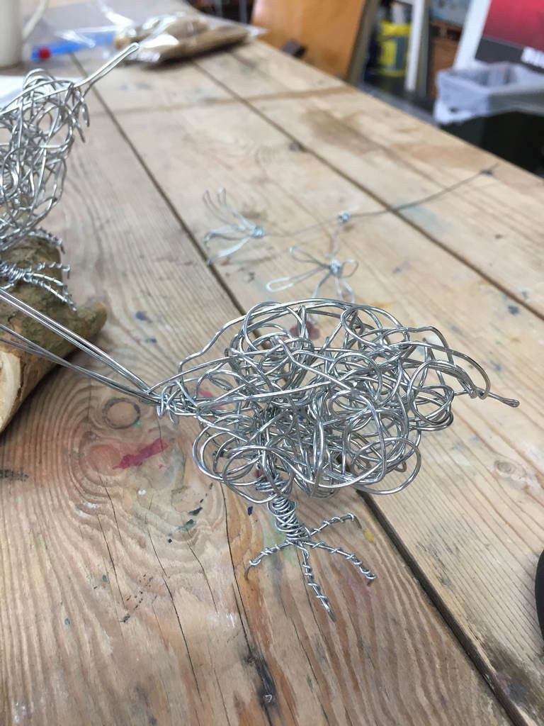Wire Sculpture with Chris Moss | Small (ish) Songbirds & Flo… | Flickr