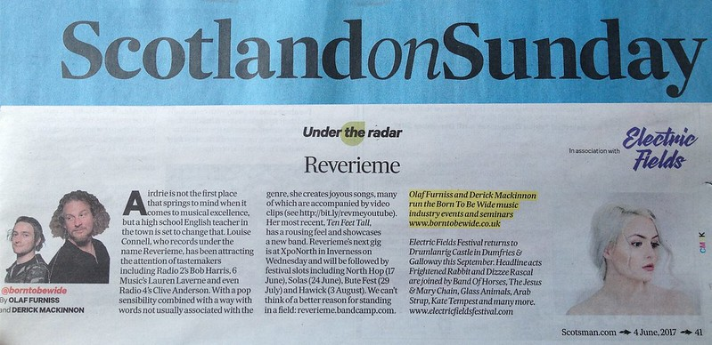 Scotland On Sunday, 4 June 2017, Reverieme
