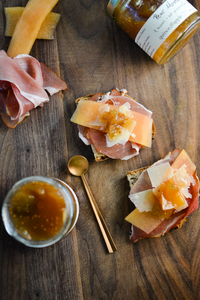 Prosciutto Toasts with Quince & Apple's Pear Mostarda | Things I Made Today