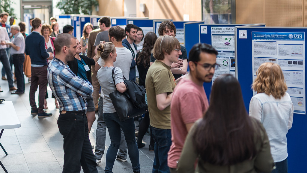 Students presenting posters at the Faculty of Science Research Afternoon in 2016