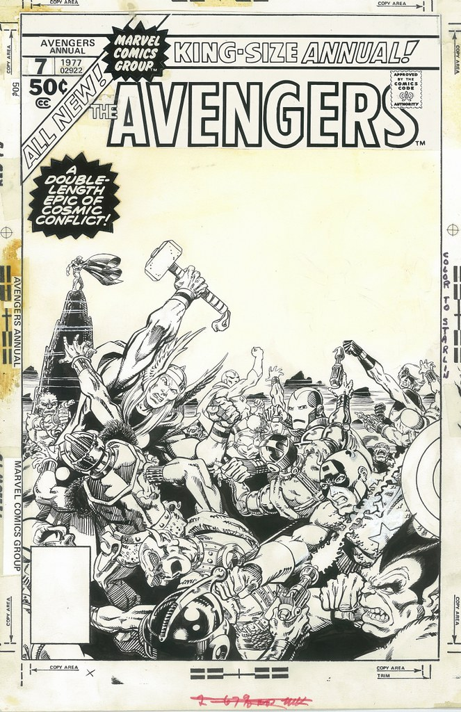 Avengers Annual 7 original art