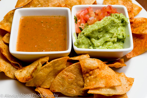 Guacamole and Salsa - Chi'Bal Restaurant