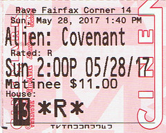 Alien Covenant ticketstub
