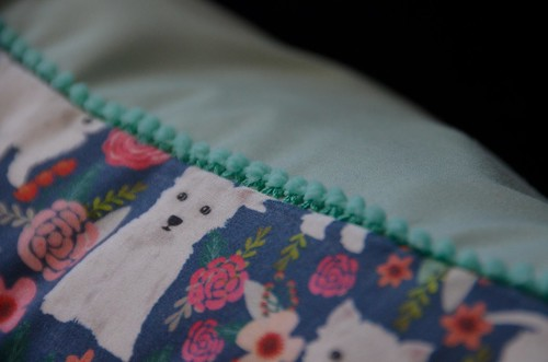 Envelope Pillowcase - pom pom trim detail