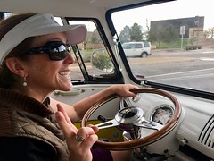 Trish is driving Hefe - watch out!