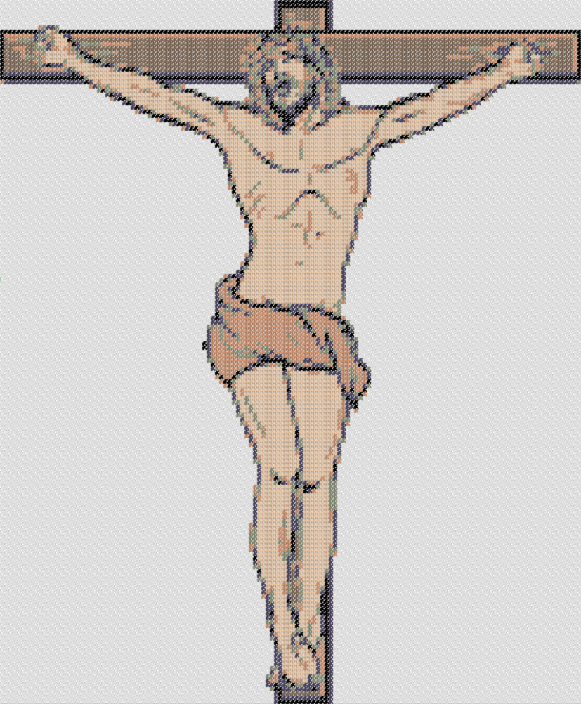 Preview of Free Printable Jesus Crucified stitching chart