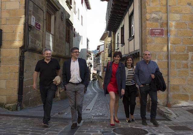 Cierre campaña primarias PSOE en Orio y visita a la Casa del Pueblo