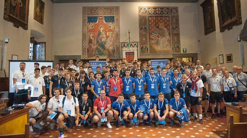 Ieri il saluto di benvenuto alle finaliste delle Final Four Berretti di Lega Pro, Catania, Livorno, Reggiana e Renate presso la Sala del Consiglio del Comune di Prato