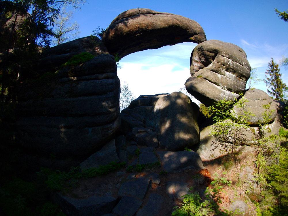 Kamenná brána, Broumovské stěny