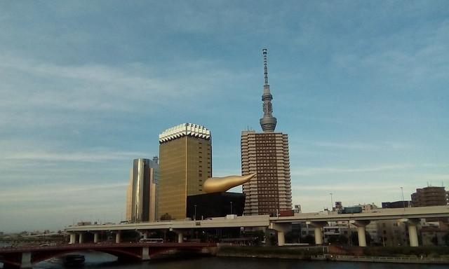 Asahi Beer Tower and Tokyo Skytree
