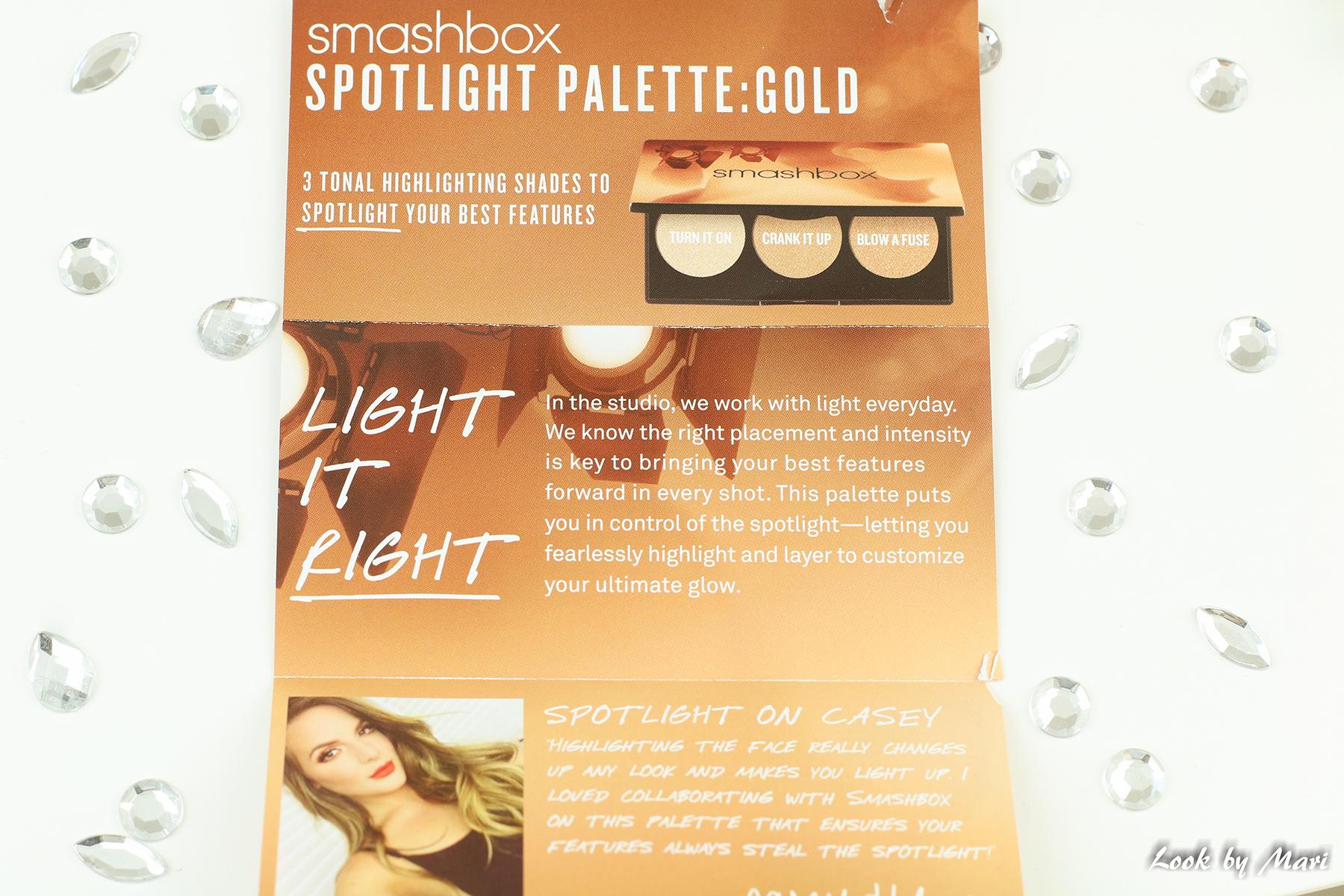6 smashbox x casey holmes spotlight paletti gold kulta kokemuksia