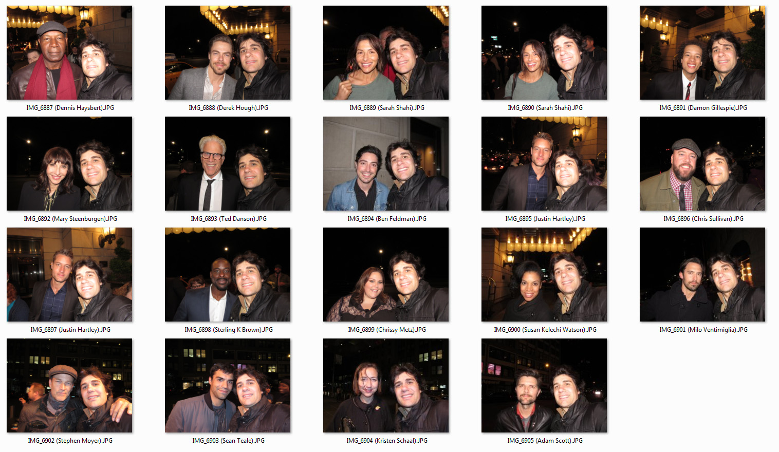 Celebrity Meet and Greets: Multi day haul during NYC television
