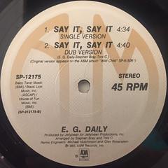 E.G. DAILY:SAY IT, SAY IT(LABEL SIDE-B)