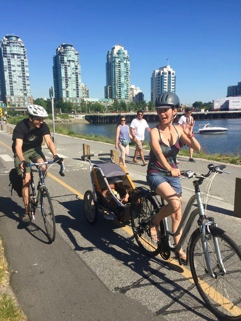 Biking on the seawall
