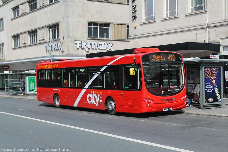 Plymouth Citybus 107 WA12ADO