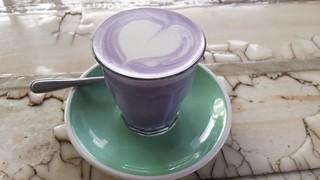 Taro Latte at The Glass Den