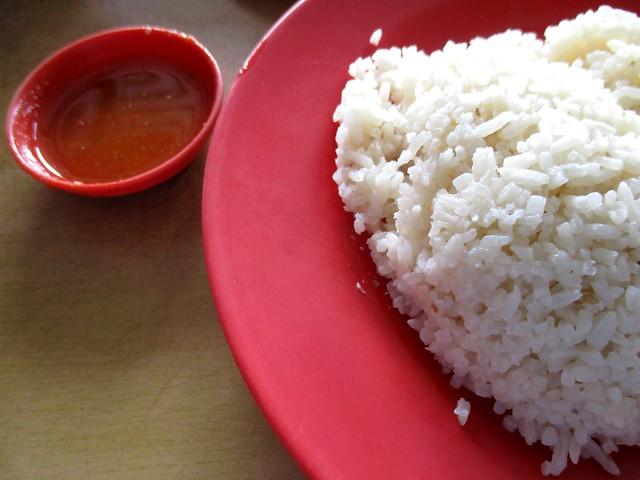Chopsticks chicken rice & chili dip