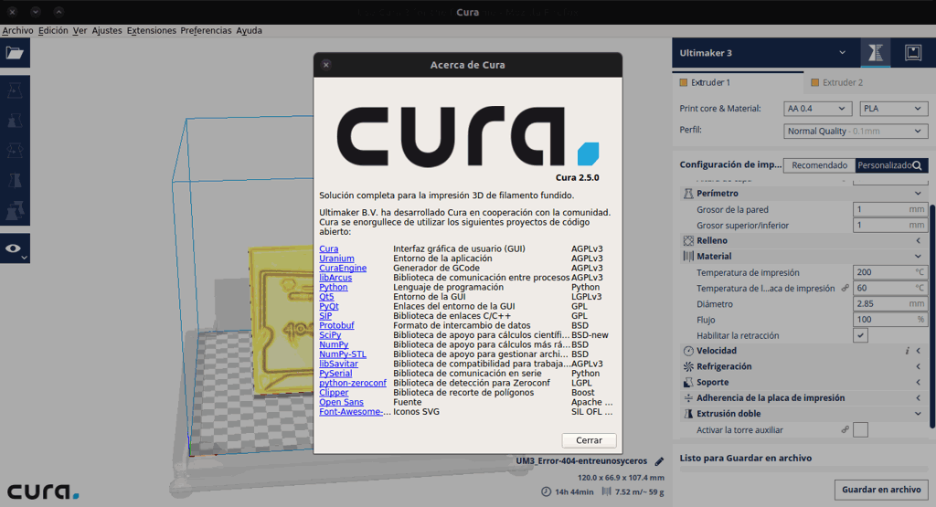 Cura-about