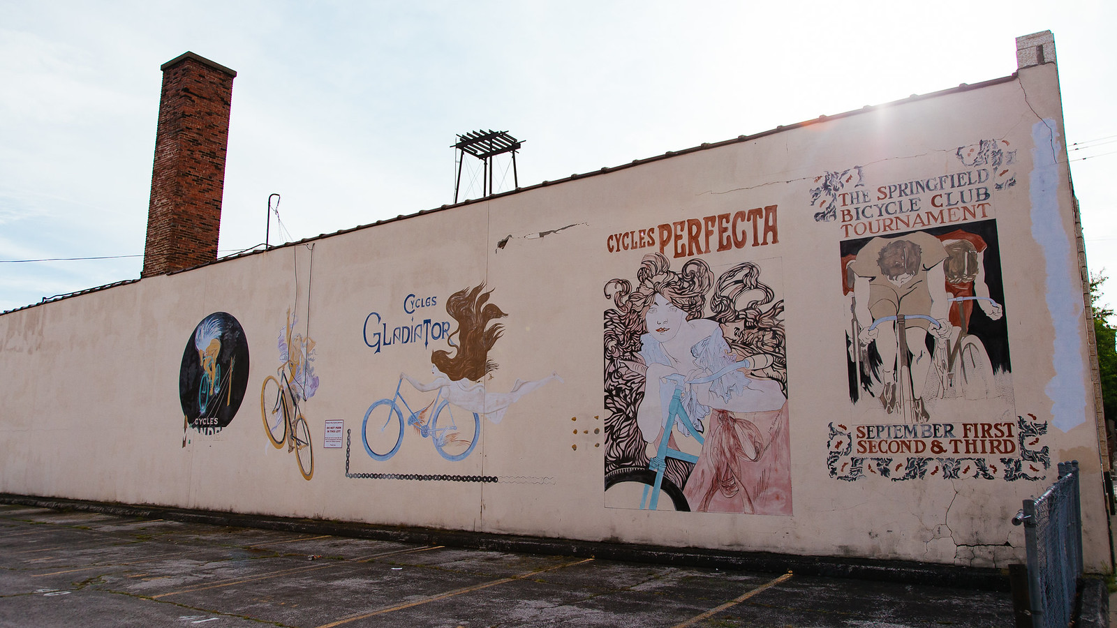 Cycling mural, downtown Springfield, Missouri
