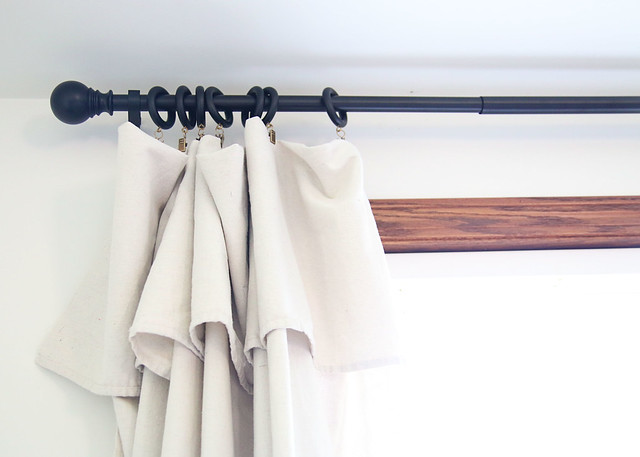 Drop Cloth Curtain Ruffle