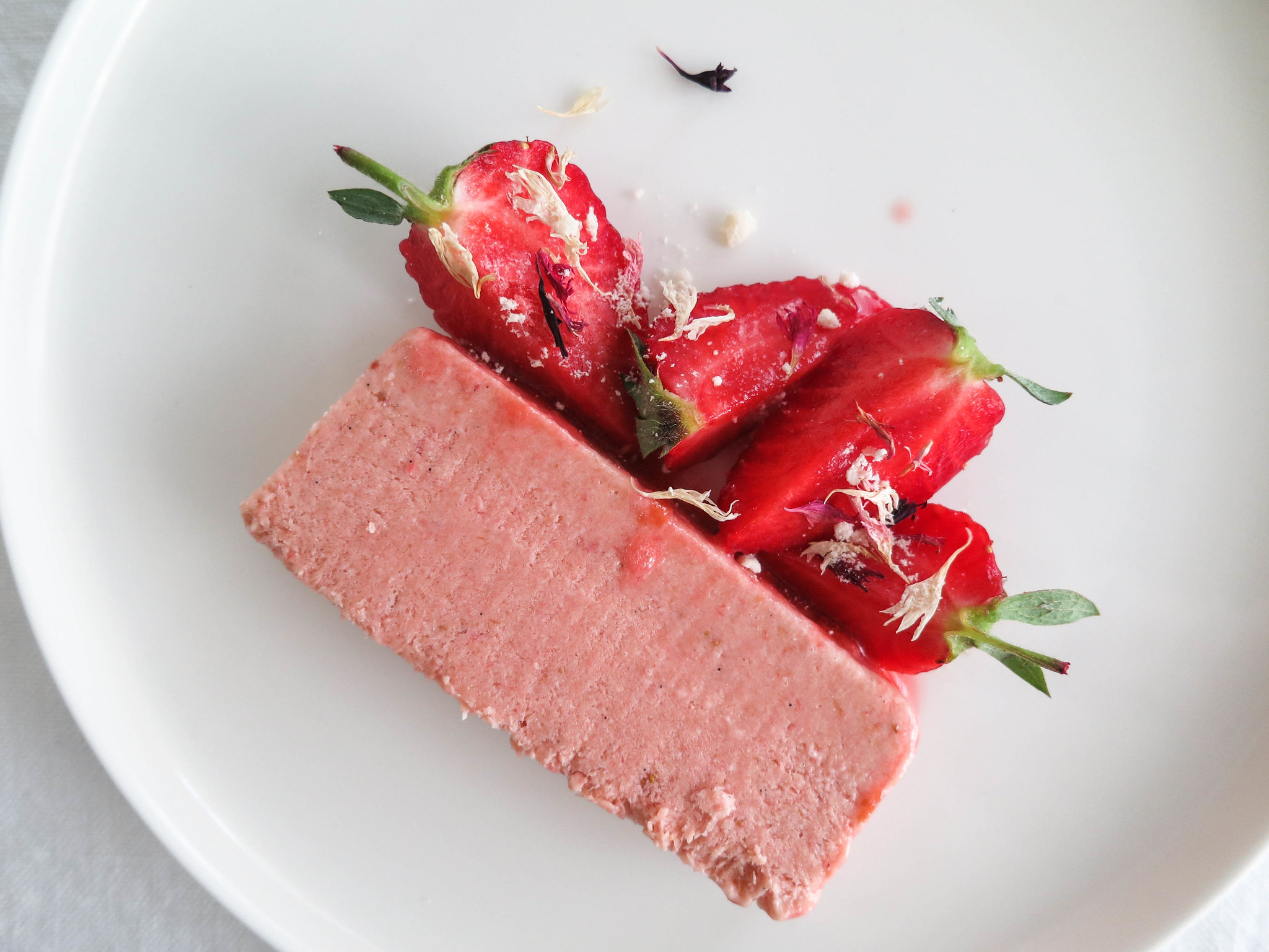 Rhubarb-strawberry parfait summer recipe